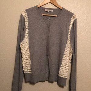 Loft NWT Grey/ Cream cardigan
